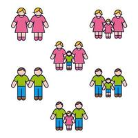 Same Gender Family Icon Set
