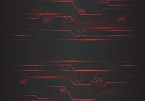 Abstract red circuit polygon geometric light lines