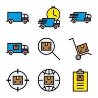 Trucks and Delivery Schedule vector