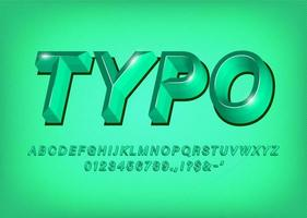Green 3d Alphabet typeface text effect title