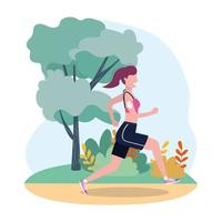 woman practice running fitness activity
