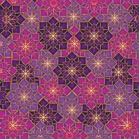 geometric flowers pattern decoration background