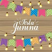 party banner and lights to festa junina