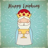 Feliz saludo de Epifanía vector