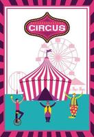 Cartaz da feira de divertimento do circo
