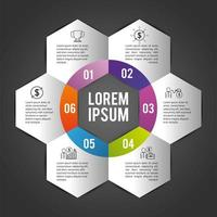 infographic business plan with lorem ipsum vector