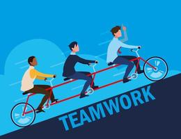 teamwork with businessmen elegant in tandem vector