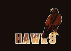 imposing hawks bird with word