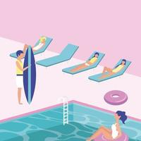 summer time vacations vector