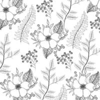 exotic flowers with branches leaves background vector