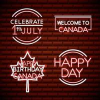 canada day neon