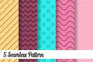 Conjunto de 5 patrones sin fisuras