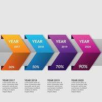 Frecce gradiente business infografica elemento con opzione o passaggi