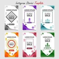 Liquid Background Social Media Stories or Sale Template vector