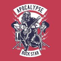 Rocker Star tocando guitarra elétrica vetor