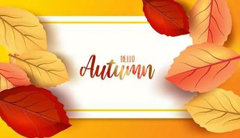 Abstract colorful leaves decorated background design