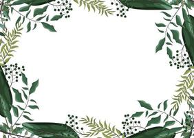 exotic branches leaves plants background vector