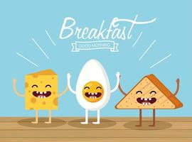 Cartoon Breakfast Items