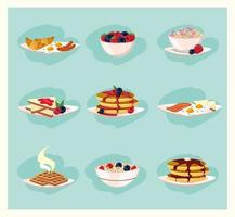 Set of healthy breakfast foods