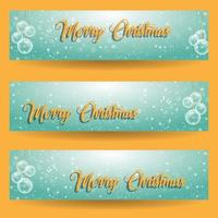 Merry christmas greeting banner set