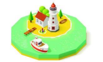 La isla redonda isométrica