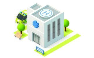 The Isometric Hospital Building