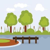 Árvores ao lado do lago