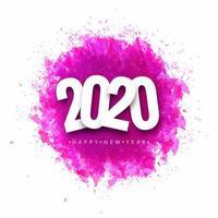 Diseño de tarjeta de felicitación de feliz año nuevo 2020 vector