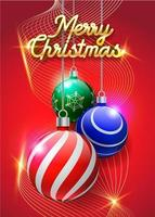 Frohe Weihnachten Hintergrund in rot vektor