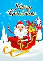 Santa Claus on his sleigh vector