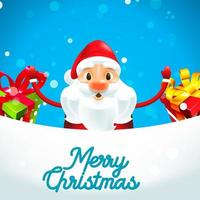 Merry Christmas Santa Claus with gifts