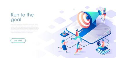 Run to goal isometric landing page