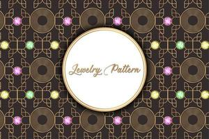 Vintage Abstract Jewelry Pattern vector