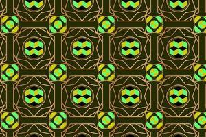 Vintage abstract patroon met gele en groene bruine vormen