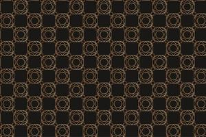 Vintage Brown Pattern with Geometric Shapes vector