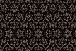 Vintage Abstract Brown Pattern with Circular Shapes