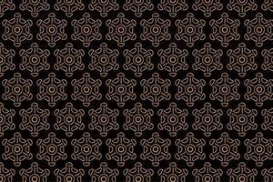 Patrón marrón abstracto vintage con formas circulares