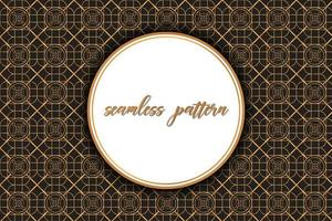 Vintage Brown Pattern with Circular Space for Text