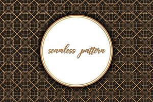 Vintage Brown Pattern avec espace circulaire pour le texte