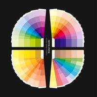 Ilustração do guia de paletas de cores para moda, design de interiores para casa