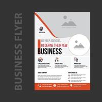 Professional business promotion flyer template vector