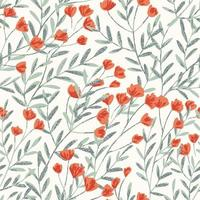 Field Foral Seamless Pattern-03 vector