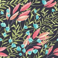 Field Foral Seamless Pattern-05 vector
