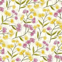 Field Foral Seamless Pattern-07 vector