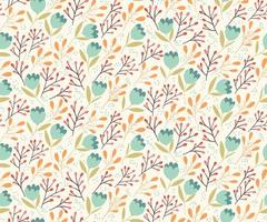 Gentle flowers seamless pattern