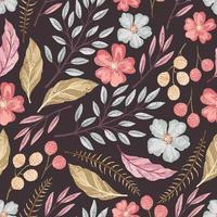 Floral seamless textured pattern