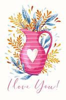 Vase avec des fleurs vecteur