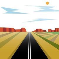 Estrada dos desenhos animados para o deserto