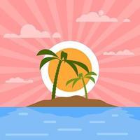 Coucher de soleil sur une île