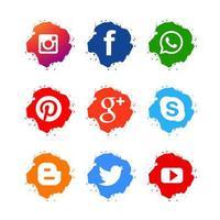 Icônes pour la conception de réseaux sociaux